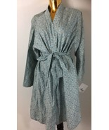 Sky Floral Printed By Bloomingdales Women  Cotton Robe One Size - $39.59