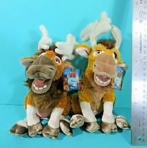"Disney Store Brother Bear Tuke Rutt Moose 8"" Bean Bag Plush Lot Of 2 w/ Tags - $19.95"