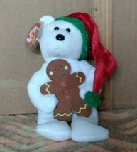 Ty Beanie-Baby Goody-2005 Christmas Bear with Gingerbread Man-w/Tag-Clean - $9.99
