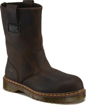 Dr Martens AirWair Volcano Steel Toe Safety Boots Sz 12 Black/Brown Leat... - $143.04