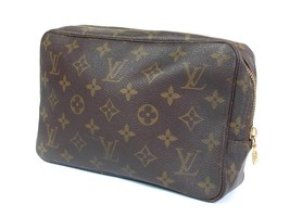 Auth LOUIS VUITTON TROUSSE TOILETTE 23 Monogram Canvas Cosmetic Pouch Ba... - $159.00