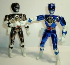 "Vintage 8"" 1995 Bandai Power Ranger Action Figures Blue & Silver Metallic - $19.95"