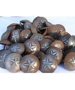 FORTY SEVEN Iron Hammered Star Clavos Decorative Nails Heads 1 1/2 inch bz - $99.89