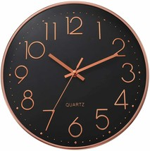 Ufengke Clock Wall Numbers 3D Gold Pink Black Single Clock Quartz Silent - $214.20