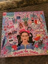 eeBoo Viva La Vida Jigsaw Puzzle, Freida Kahlo Bright and Beautiful!! - $26.13