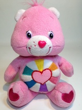 "Care Bears Pink HOPEFUL HEART Teddy Bear Soft Plush Stuffed Animal 8"" Do... - $35.00"