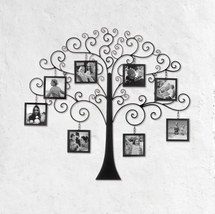 """FAMILY TREE Photo Wall Decor Frame 8 Picture 4"""" x 4"""" Display - $68.85"""