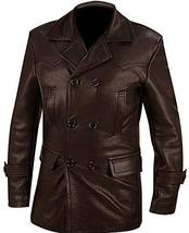 WW2 Kriegsmarine Imperial German Navy U-Boat Captain Brown Leather Coat Jacket image 1