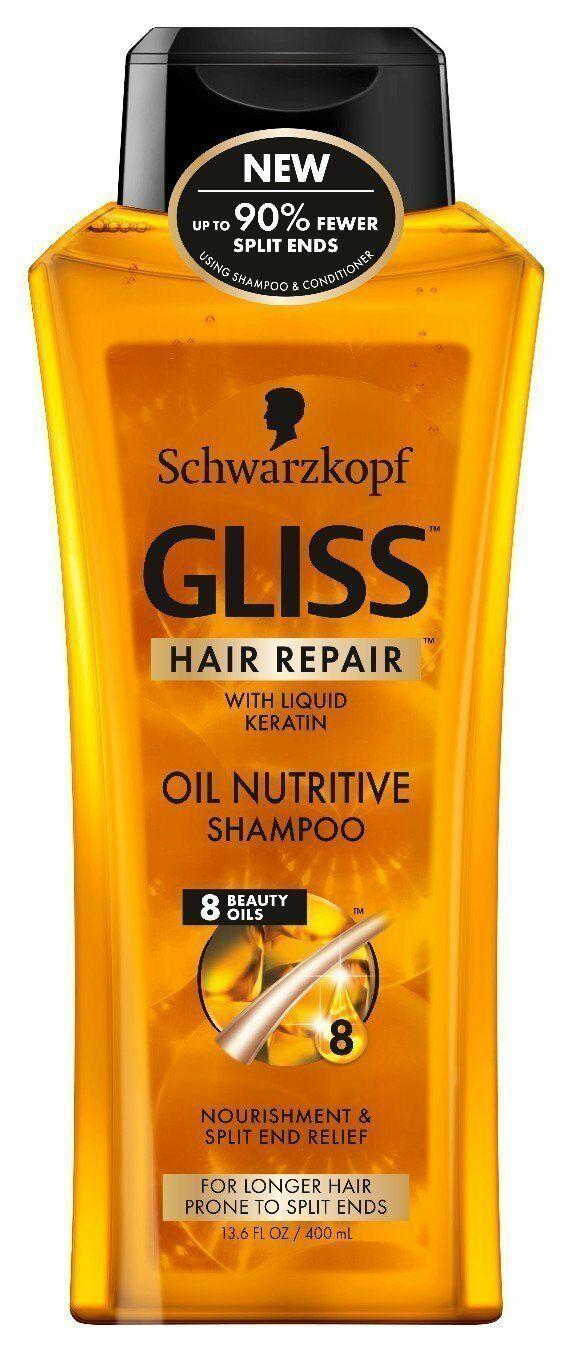 Schwarzkopf GLISS Hair Repair Extra Volume OR Oil Nutritive Shampoo, SZ 13.6 oz
