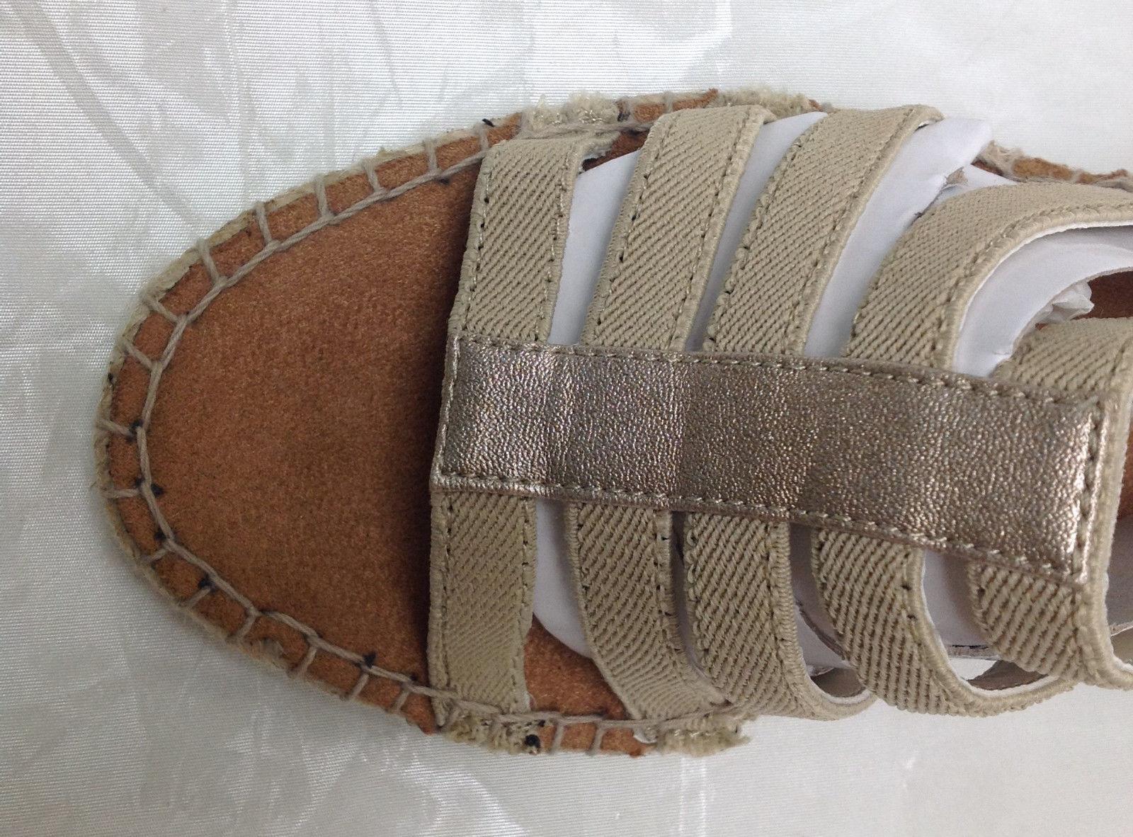 LifeStride Women's Multi-strap Espadrille Sandals, Route, Light Gold, Size 6.5 M