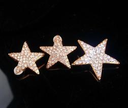 Vintage Star Earrings set / rhinestone star brooch / mystical jewelry / ... - $95.00