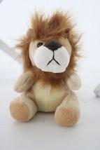 "Lion Mini Crazy Hair Brown Plush Stuffed Animal Toy Doll 4"" - $7.91"