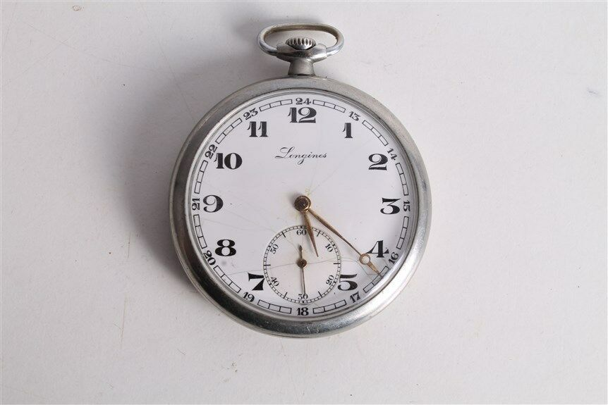 Primary image for Antique Vintage Old Swiss Made Longines Open Face Mens Pocket Watch.