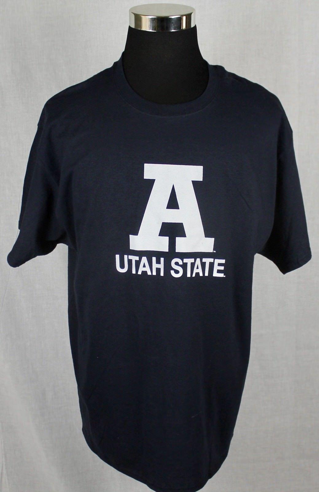 Champion Utah State Mens Short Sleeve T-Shirt sz XL Blue