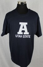 Champion Utah State Mens Short Sleeve T-Shirt sz XL Blue - $24.74