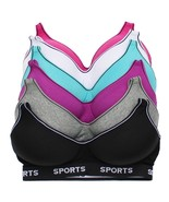Viola's Secret Pack of 6 Women's Supportive Molded Cup Sports Bra 8902 - $26.95