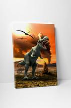 T-Rex Dinosaur Children Kids Wall Art Gallery Wrapped Canvas Print - $44.50+