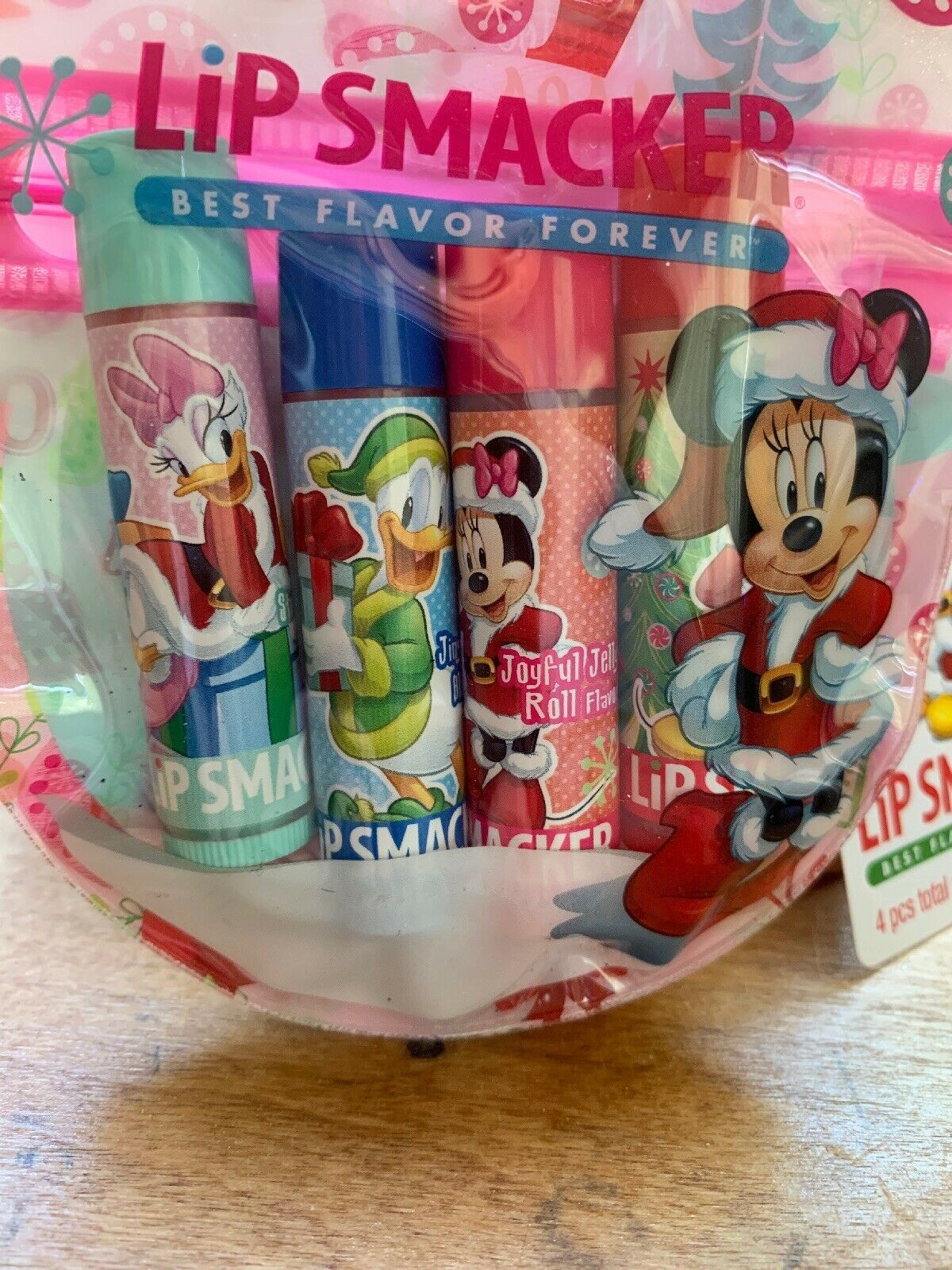 Primary image for Set 4 Disney Mickey Lip Smacker Lip Balms Strawberry Berry Bliss Jelly Roll New