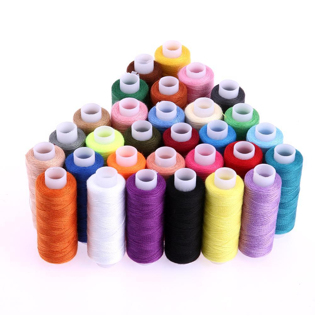 30pcs 250 Yard/228 m Polyester Hand/Machine Sewing Threads Embroidery Crafts