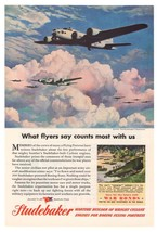 Boeing B-17 Flying Fortress Studebaker '40s Army Weasel Original Ad Page... - $9.74