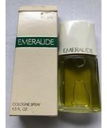 Vintage Coty Emeraude in Box 1,5 Fl Oz Cologne Spray Fragrance - $11.99