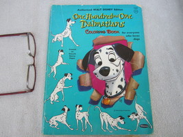 101 Dalmatians Movie Tie In Walt Disney Coloring Book Pet Dog 1960 - $18.95