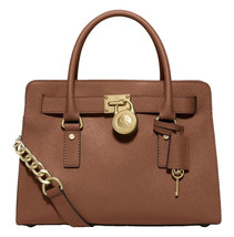 Michael Kors Hamilton Satchel Bag with Gold Chain - $133.65