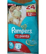 Pampers Baby Dry Pants 2 pc Medium Size 7-12kgs Free Worldwide Shipping - $5.99+
