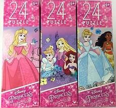 Three 24 Piece Puzzles Disney Princess - $19.99