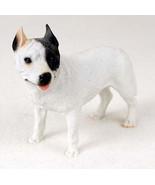 PIT BULL TERRIER DOG WHITE Figurine Statue Hand Painted Resin Gift Pet P... - $19.99