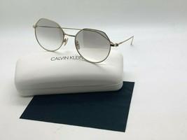 New Calvin Klein Sunglasses CK18111S 717 Gold 51-18-140MM Case - $43.62