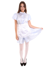 Adult Women's French Apron Maid Uniform Costume | Light Blue Cosplay Cos... - $37.85