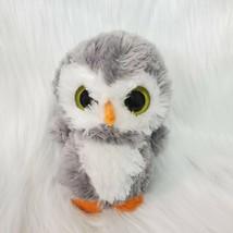 "6"" Aurora Gray White Owl Big Yellow Eyes Plush Stuffed Animal Toy B81 - $12.97"