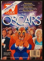 Disney's Beauty and the Beast at the Oscars 1992 TV Guide Beast Cover  - $12.99