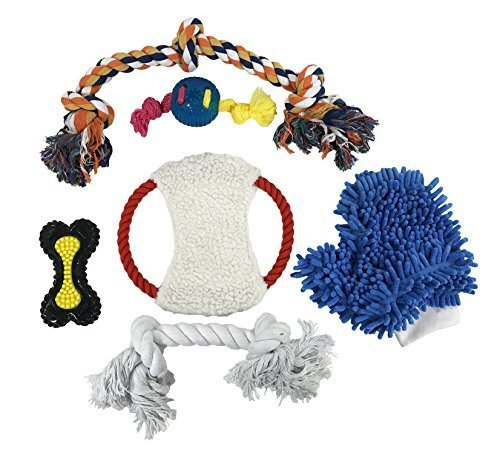 Primary image for Penn Plax Dog Toys for Large Dogs, TPR Dog Ropes and Chew Toys with Grooming Glo