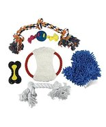Penn Plax Dog Toys for Large Dogs, TPR Dog Ropes and Chew Toys with Groo... - $38.96 CAD