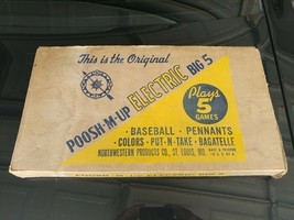 Vintage Toy Board Game Pinball Poosh-M-Up Big 5 Original Box Instruction... - $225.00
