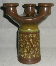 1970s Franciscan MADEIRA PATTERN Triple Light CANDLEHOLDER Made in Calif... - $59.39