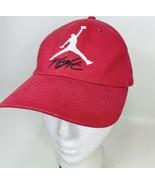 Nike Jordan Flight Jump Man Logo Youth Fitted Hat Red - $10.98