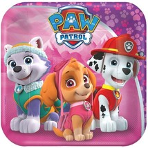 "Paw Patrol Girl 8 7"" Dessert Cake Plates Birthday Party - $4.65"