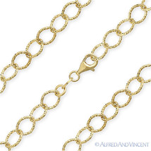925 Italy Sterling Silver 14k Yellow Gold Plated 6.4mm Cable Link Chain Necklace - $59.19 - $82.36
