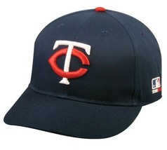 Minnesota Twins MLB OC Sports Hat Cap Solid Blue White Red Logo Team Adjustable - $14.99