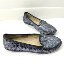 Ugg Australia Glitter Flats Size 5.5 Silver Slip On Shoes Comfort - $28.04