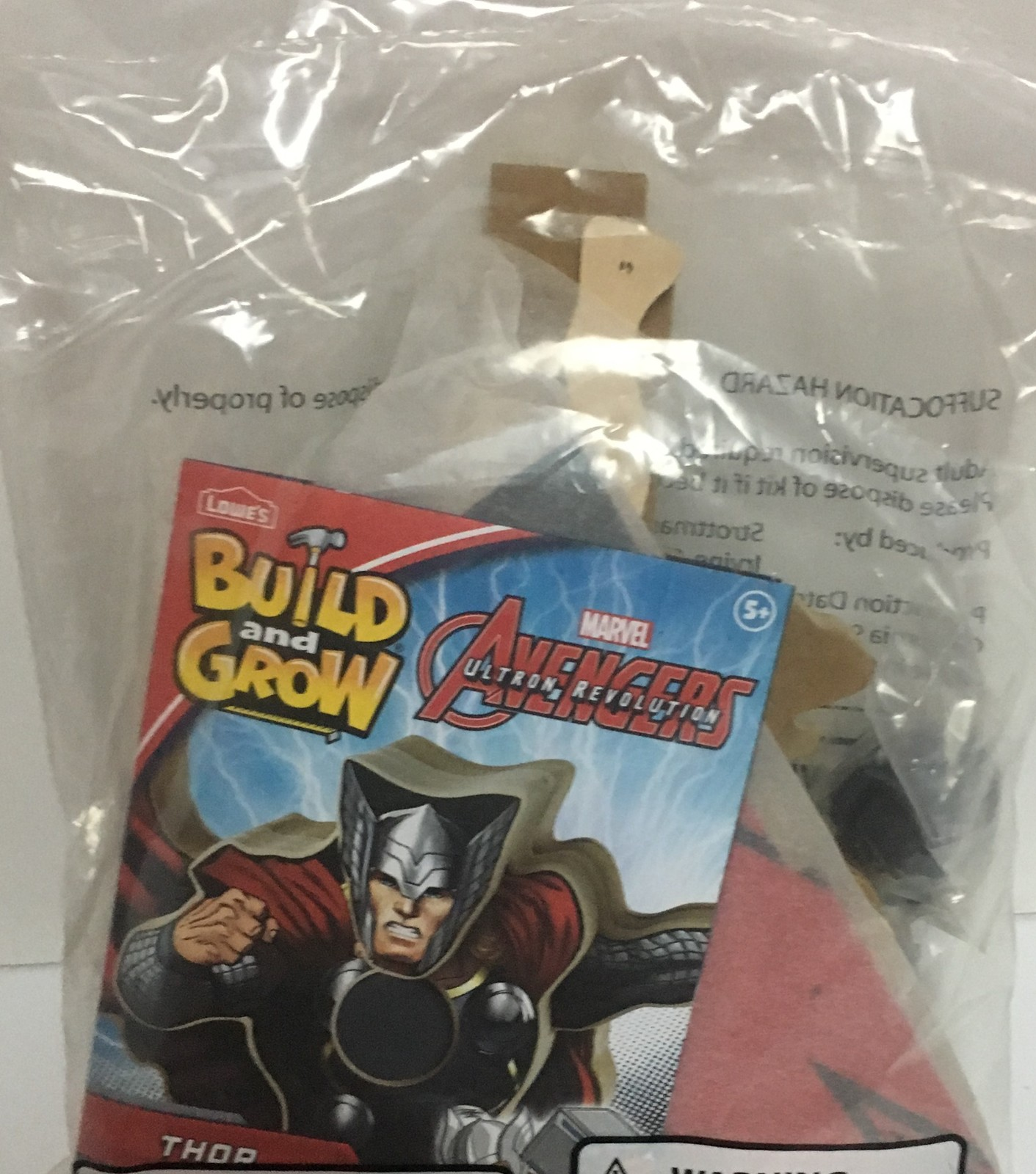 Lowe's Avengers Build & Grow THOR Ages 5+ Wood Toys
