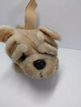 Plush land Tan Shar Penn purse dog Stuffed animals plush zipper tummy  - $17.31