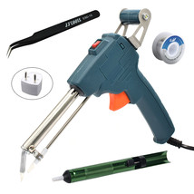 220V 60W Tin Soldering Iron Kit Automatic Send Tin Gun Electric Solderin... -