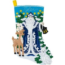 Bucilla 'Winter Santa' Stocking Embroidery Applique  Kit-86935E - $25.99