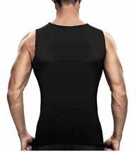 Men's Sweat Shaper Vest, Workout Tank Top, Black, Size M image 3