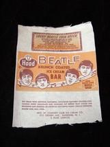 Beatles Ice Cream Bar Wrapper Hood Ice Cream Vintage 1960s Unused - $22.99