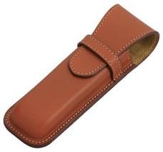 Japan Pilot Somes  pen case / Cowhide Leather / for 2 Pens brown SLS2-01... - $142.33